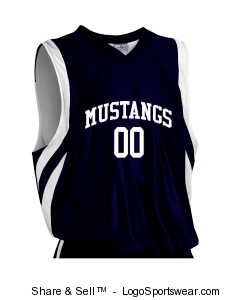 Adult Downtown Reversible Basketball Jersey Design Zoom